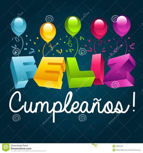 Buon Compleanno In Spagnolo | buon compleanno nello spagnolo fotografia stock libera da
