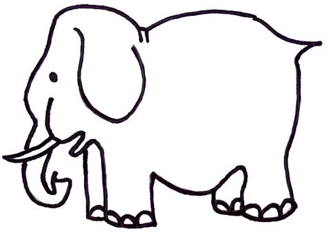 printable elephant shapes toddler program colores para ceones colors for