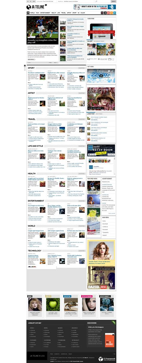 best free joomla magazine themes 2015 all design creative best of the best free magazine and news joomla templates