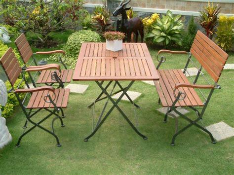 Metal Garden Furniture Wood And Metal Garden Furniture Trellischicago