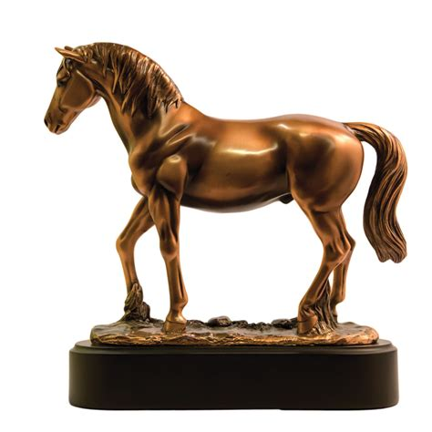 horse statues for home decor standing horse large bronze statue rodeo statue