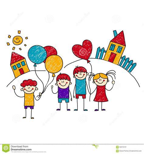 clipart bambini a scuola immagine dei bambini felici della scuola illustrazione di