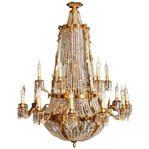 Ballroom Chandeliers Empire Two Tier Eighteen Light Ballroom Chandelier At 1stdibs