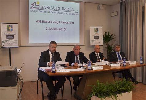 Banco Di Imola by L Assemblea Di Banca Di Imola Approva All Unanimit 224 Il