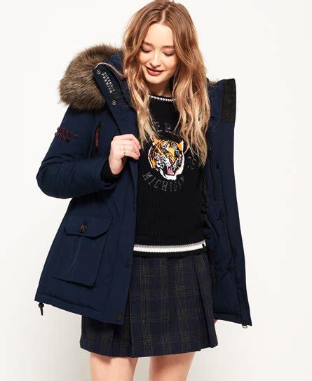 Premium Parka Navy superdry premium alps parka jacket s jackets coats