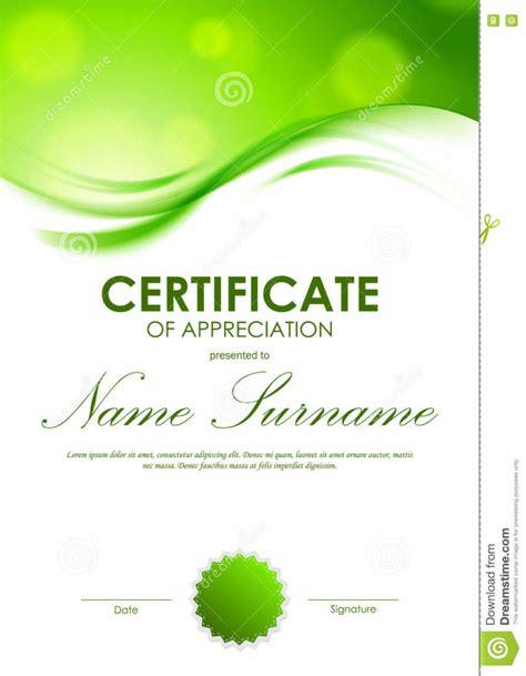 12 new printable green pdf templates blank certificates
