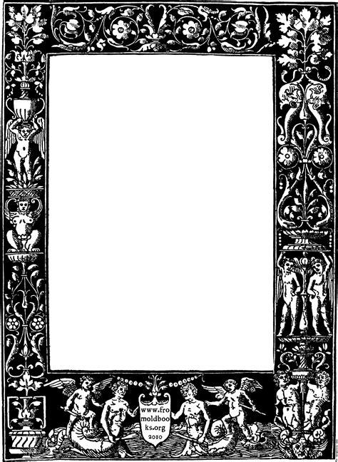 design historical frame ornate border from 1878 title page black version