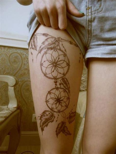 dream catcher tattoo on hip tumblr atrapa sue 241 os doble tatuajes para mujeres