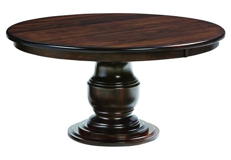 amish solid wood dining amish ziglar round pedestal dining table surrey street