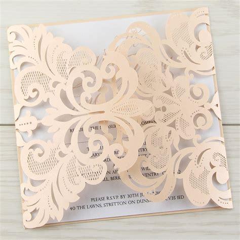Laser Cut Wedding Invitations by Diy Laser Cut Wedding Invitations Invitation Librarry
