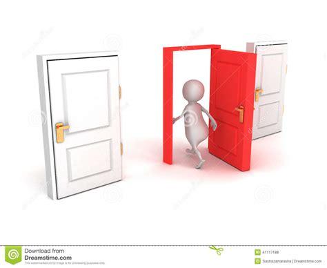 Walk Right Through The Door by 3d Make Right Choice Walk Through Door Stock