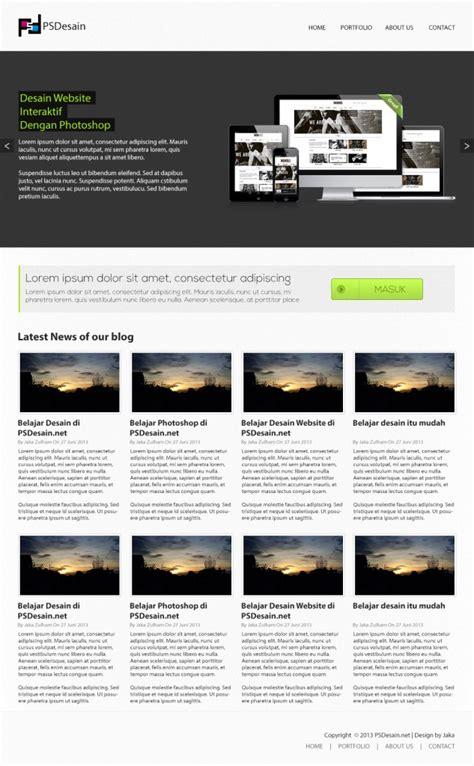 tutorial desain web dengan photoshop cs6 mendesain web psdesain dengan photoshop psddesain net