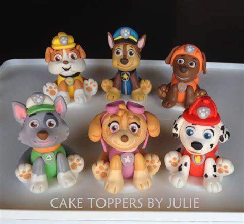 Paw Patrol Cake Decorations custom cakes by julie paw patrol inspired toppers