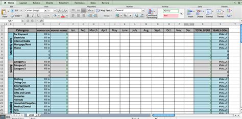 Laura S Plans Excel Budget Template 12 Month Budget Template Excel