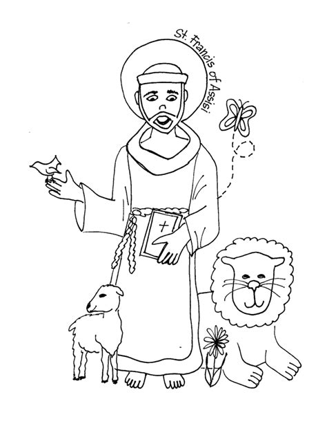 Saints Coloring Pages Printable Catholic Saints Coloring Pages Of Saints