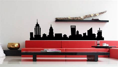 new york city home decor new york city nyc skyline mural vinyl wall art decal