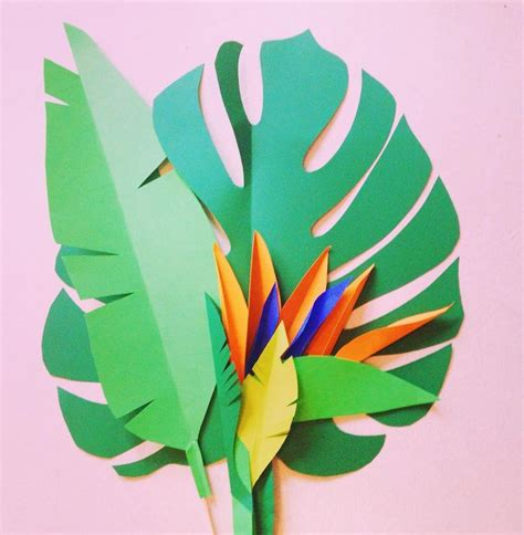 Paper Leaf Craft - paper leaves craft scrapbook paper idea