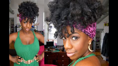 easy effortless scarf updo  natural hair youtube