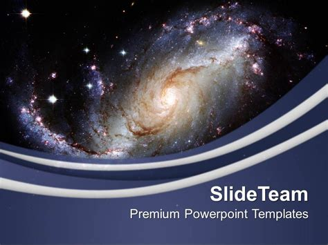 powerpoint templates galaxy illustration of spiral galaxy powerpoint templates ppt