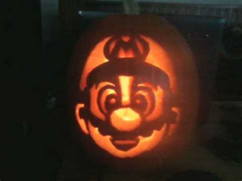 mario pumpkin that i carved youtube