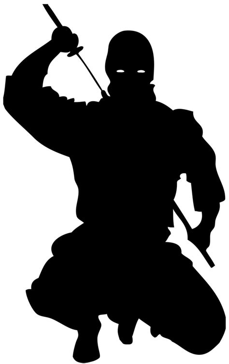 フリーイラスト素材 クリップアート 忍者 ニンジャ 日本 人物 人物 シルエット 黒色