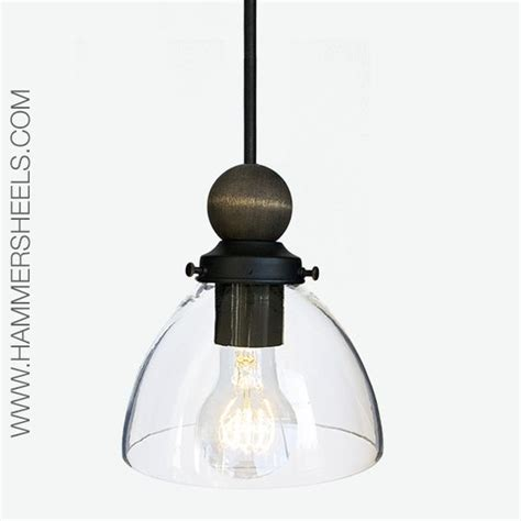 Rustic Glass Pendant Light Blown Glass Pendant Light Featuring A Rustic Solid Wood Sphere Nestled On A Shade Handblown In