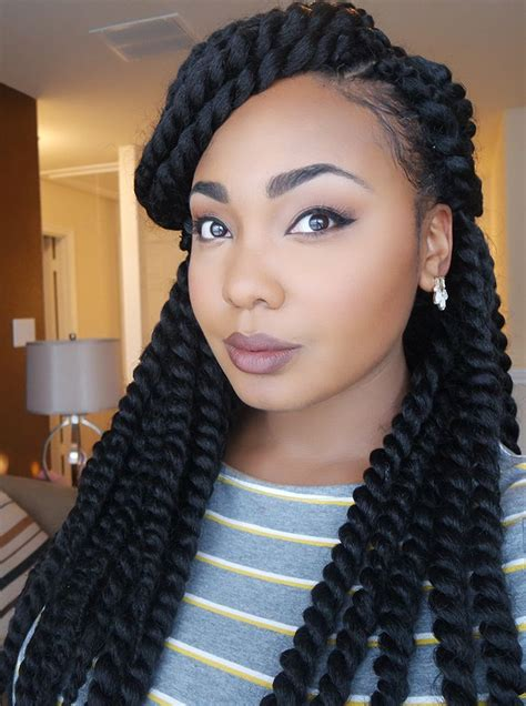 pretwisted senegalese crochet hairstyles singelese crochetbraids long hair pinterest