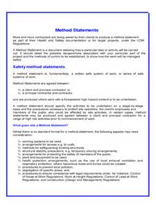 method statement template free pdf method statement 6 free templates in pdf word excel