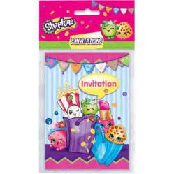 shopkins invitations 8ct walmart
