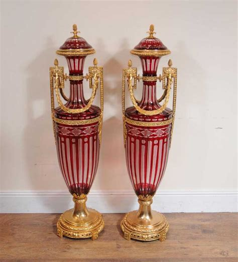 5 Foot Vases by 4 5 Ft Empire Cut Glass Urns Vases