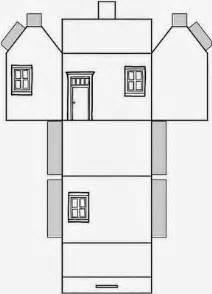 educar x molde de casas de papel para montar ideias