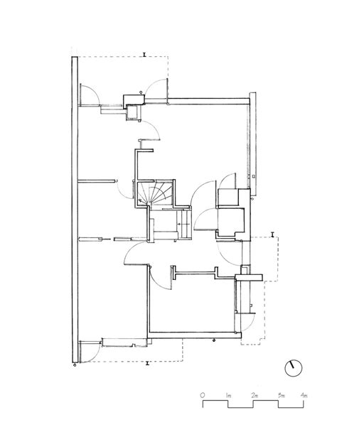 rietveld schroder house floor plans the rietveld schroder house hand drawings ground floor