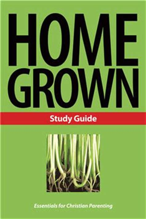 home grown study guide print l nederveld