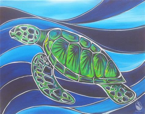 paint with a twist warrington stained glass sea turtle sunday february 5 2017