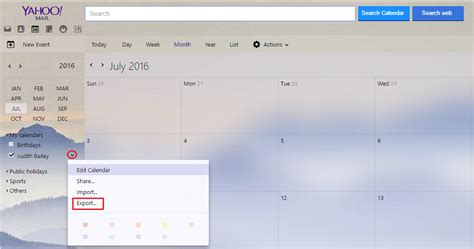 Yahoo Calendar Login How To Export Your Yahoo Calendar