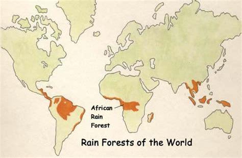 africa map rainforest rainforest