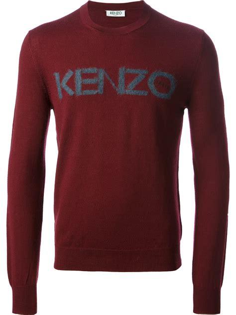 Kenzo Sweater Import 1 lyst kenzo logo sweater in for