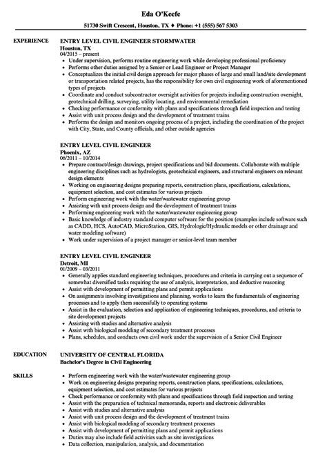 civil engineer resume exle civil engineering resume