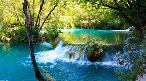 waterfall  plitvice lakes national park natural