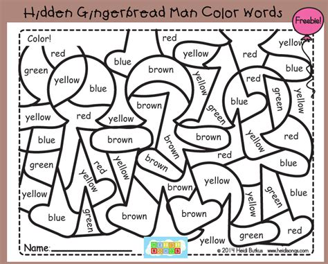 coloring page with color words hidden sight words coloring pages