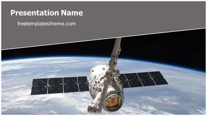 Free Nasa Satellite Powerpoint Template Satellite Ppt Template Free