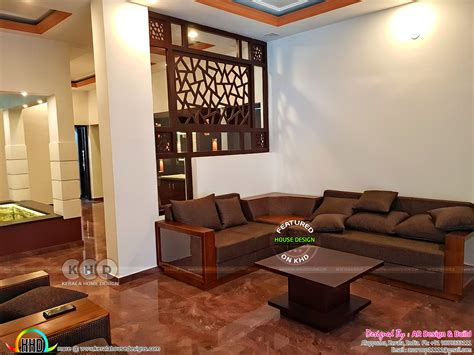 furnished interior designs  kerala kerala home design