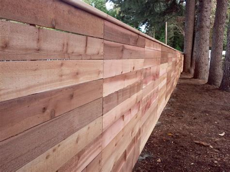 horizontal wood fence horizontal wood fencing with cedar top rail custom