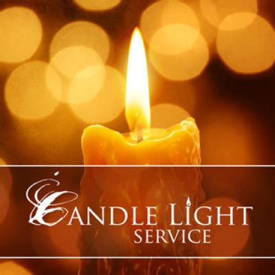 light services even candlelight service you re invited