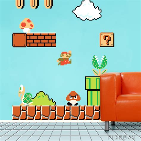 mario bros stickers wall blik original mario wall decals firebox shop for