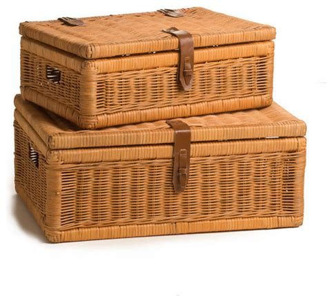Decorative Storage Baskets by Covered Wicker Storage Basket Decorative Boxes By The