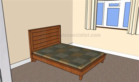 full size platform bed plans full size headboard plans howtospecialist how to build