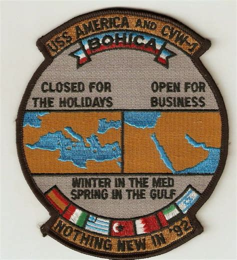 embroidery design north perth cv 66 uss america cvw 1 quot nothing new in 92 quot bohica quot bend
