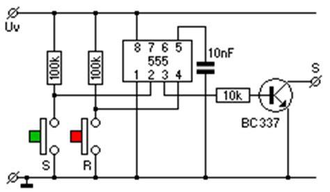 transistor als schalter bc337 elektrik und elektronik speicherschaltungen flipflop bistabile kippstufe