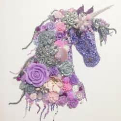 Canvas Ideas For Bedroom Unicorn Button Art Beads Rhinestones Recycled Jewellery